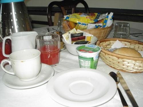 朝食メニュー。