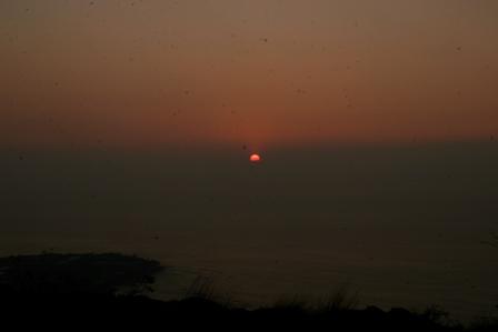太陽の見え始め