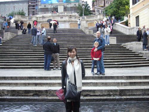 スペイン階段(悪い人に注意!)