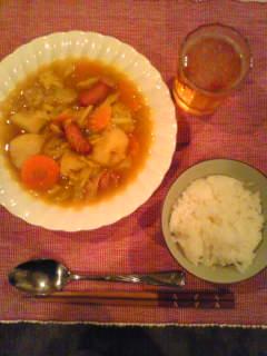 夕飯はスープカレー