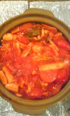 初☆トマト鍋!